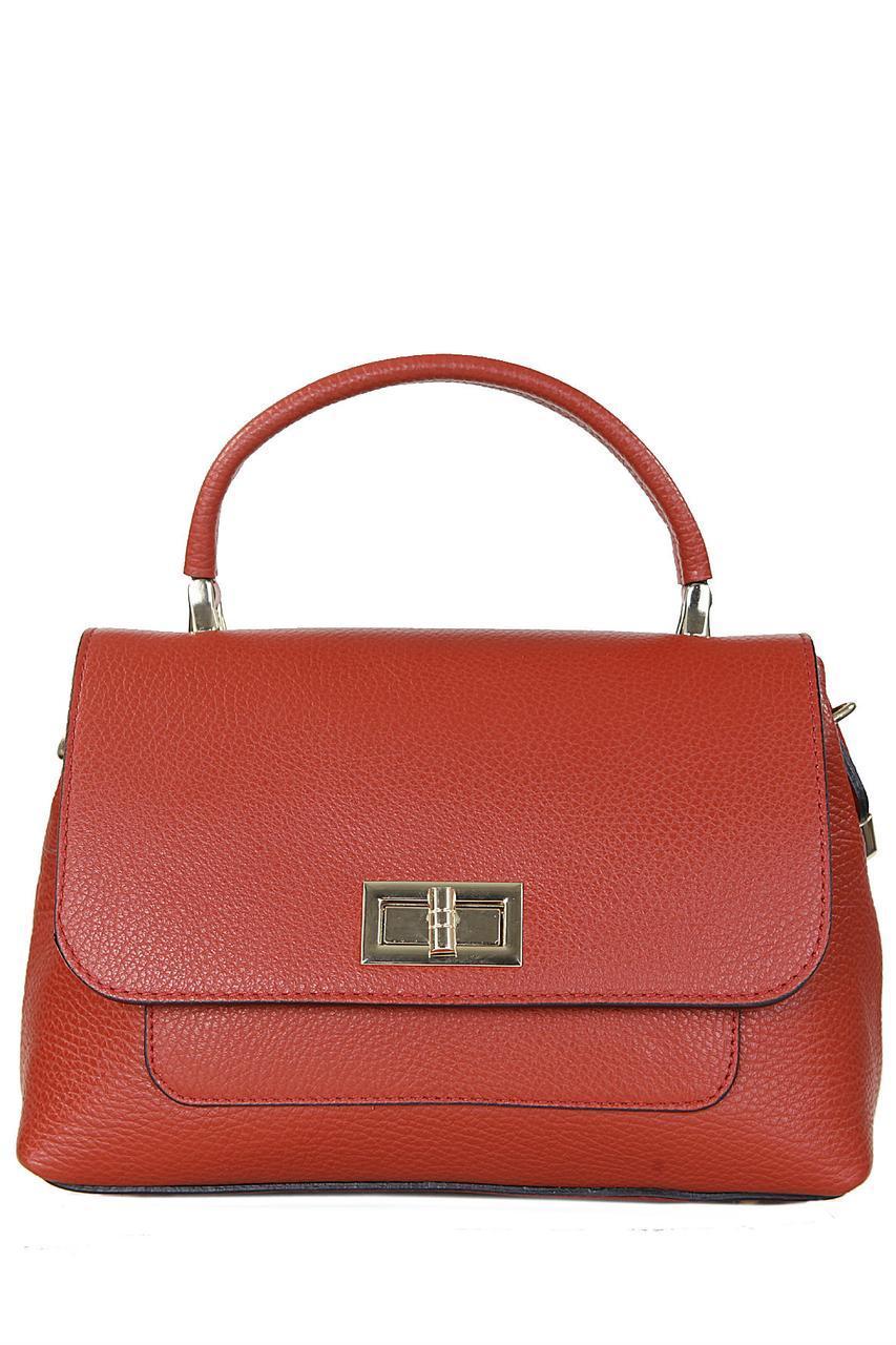 Женская кожаная сумка COSIMA Diva's Bag цвет красный