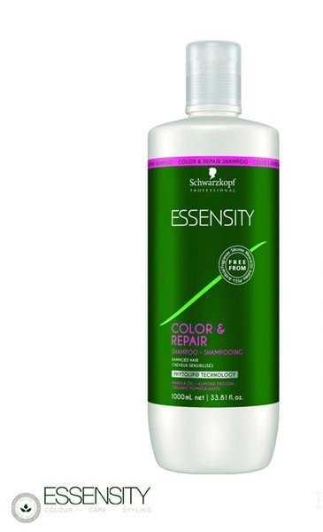 Восстанавливающий шампунь без сульфатов Schwarzkopf Professional Essensity Color&Repair Shampoo 1000 мл