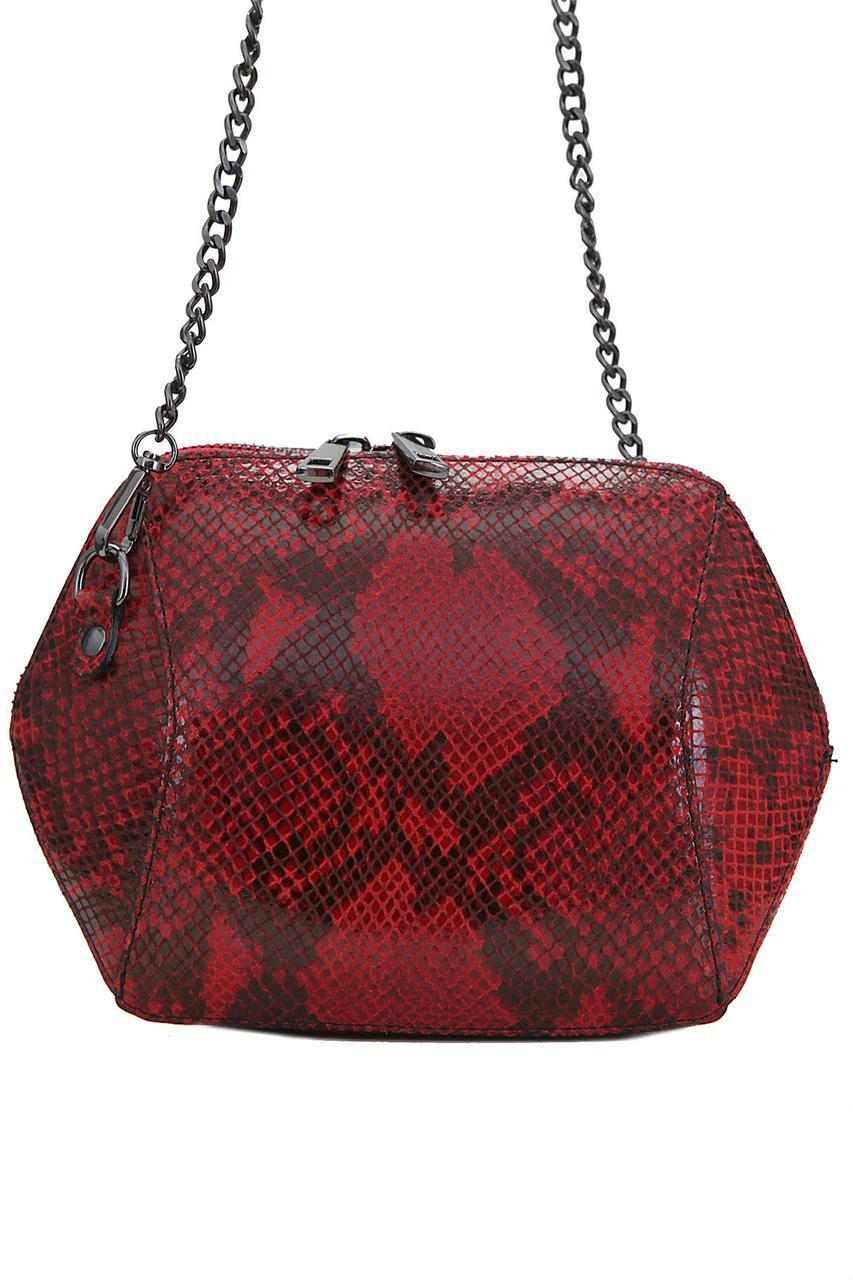 Женская кожаная сумка CORA Diva's Bag цвет красный