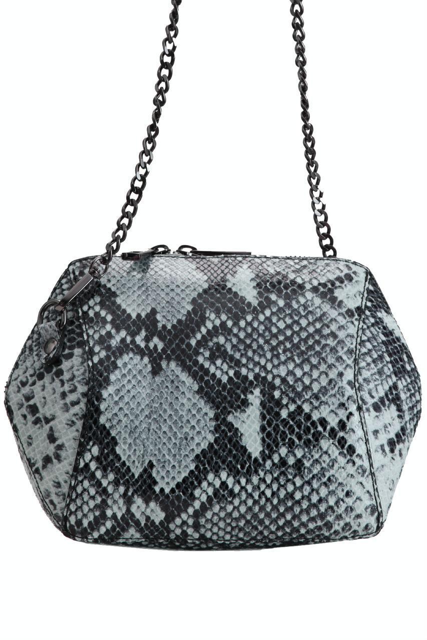Женская кожаная сумка CORA Diva's Bag цвет серый