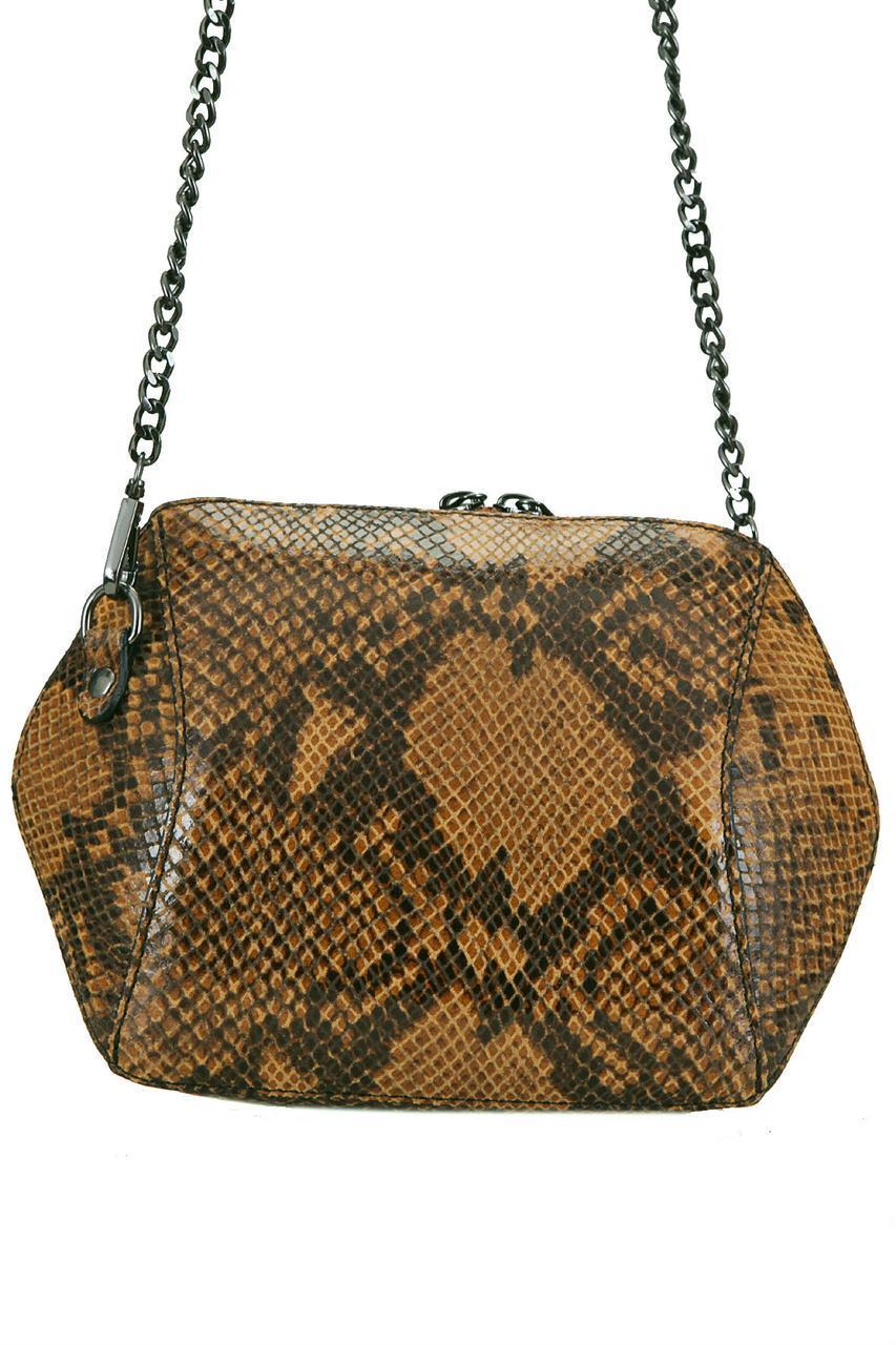 Жіноча шкіряна сумка CORA diva's Bag коньячний колір