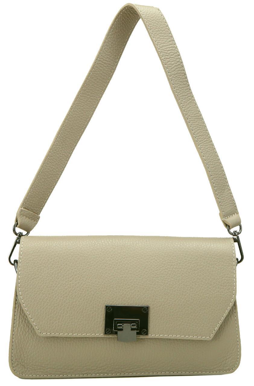 Женская кожаная сумка CLARA Diva's Bag цвет темно-бежевый