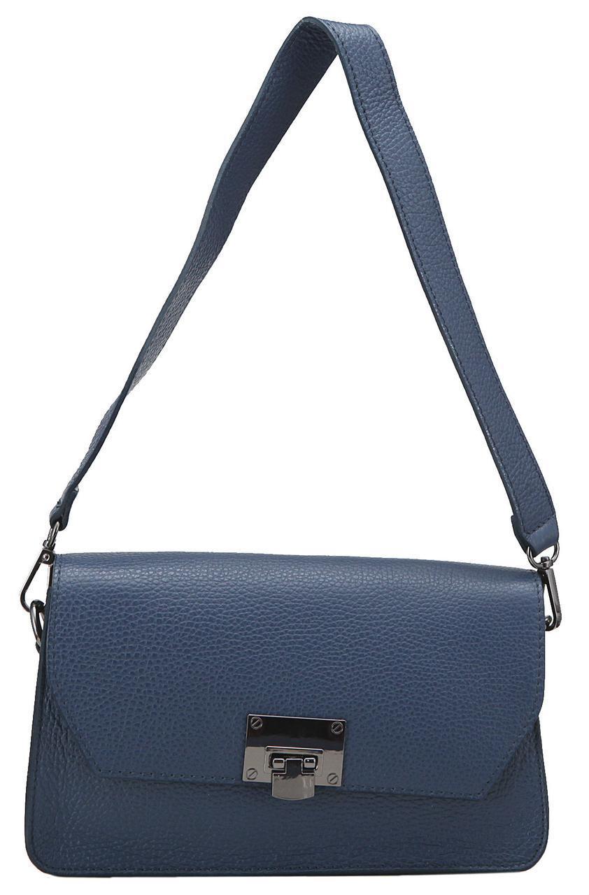 Женская кожаная сумка CLARA Diva's Bag цвет темно-синий
