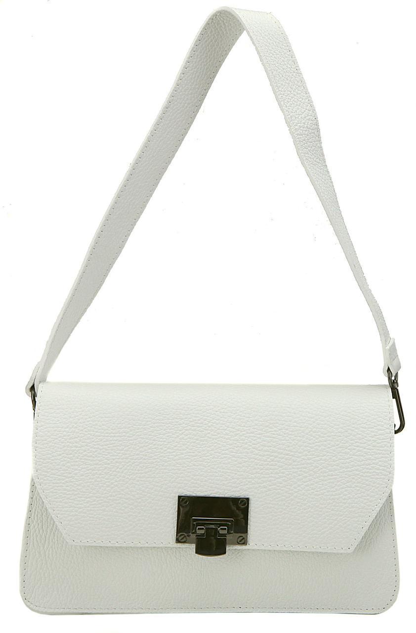Женская кожаная сумка CLARA Diva's Bag цвет белый