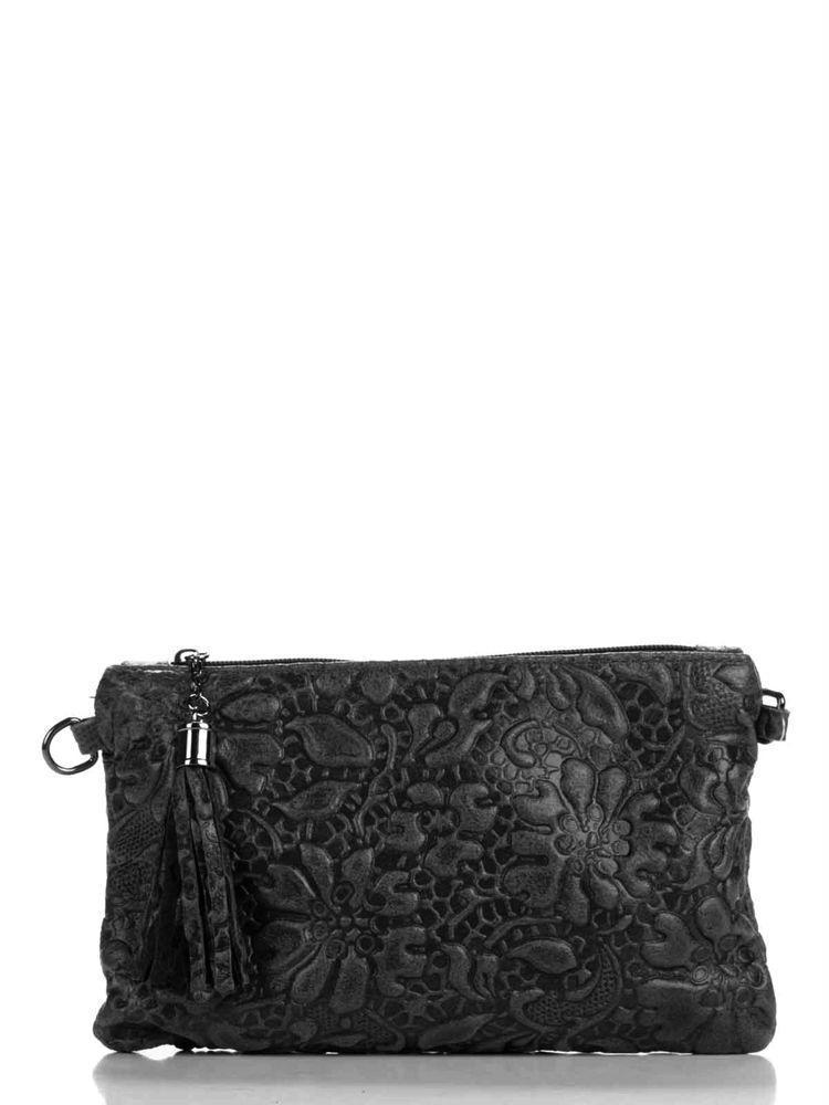 Женская кожаная сумка KISHA Diva's Bag цвет черный