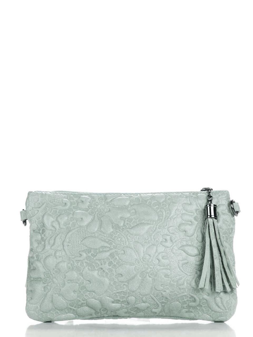 Женская кожаная сумка KISHA Diva's Bag цвет светло-серый