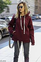 Модное женское теплое худи  0142