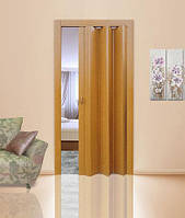 Дверь-гармошка глухая. Цвет: дуб светлый №802 2030мм/810мм/6мм