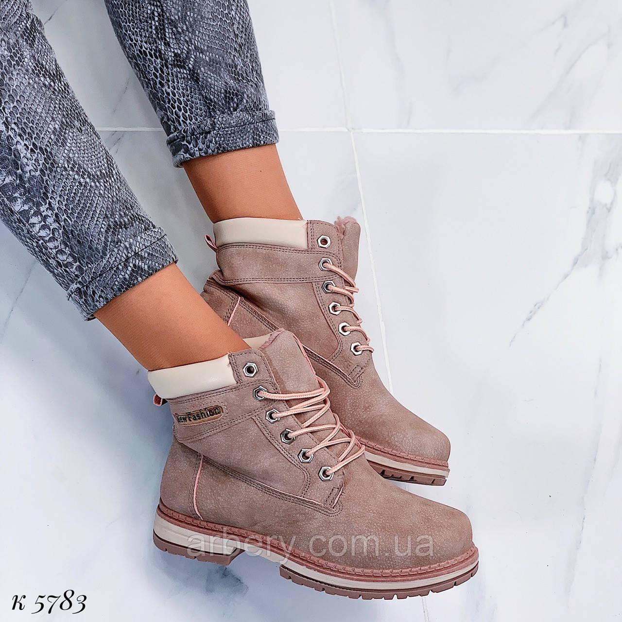 Женские зимние ботинки в стилеТимберленд