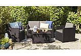 Набір садових меблів Monaco Set With Storage Table з штучного ротанга ( Allibert by Keter ), фото 4