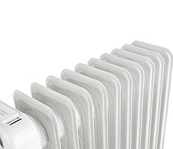 Электрический Масляный Радиатор Напольный Обогреватель на 11 Секций Мощность 2500W (Adler AD 7809), фото 3