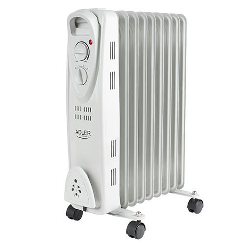 Электрический Масляный Радиатор Напольный Обогреватель на 9 Секций Мощность 2000W (Adler AD 7808)