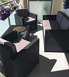 Набір садових меблів Monaco Set With Storage Table з штучного ротанга ( Allibert by Keter ), фото 5