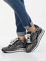 """Женские оригинальные черно-белые кожаные кроссовки """"Billie Trainer"""" Michael Kors, фото 1"""