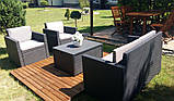 Набір садових меблів Monaco Set With Storage Table з штучного ротанга ( Allibert by Keter ), фото 9