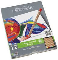 Набор цветных карандашей, MEGACOLOR, 12шт., мет. коробка, Cretacolor