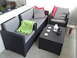 Набір садових меблів Monaco Set With Storage Table з штучного ротанга ( Allibert by Keter ), фото 10