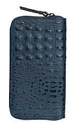 Жіночий шкіряний гаманець CIRA diva's Bag колір темно-синій