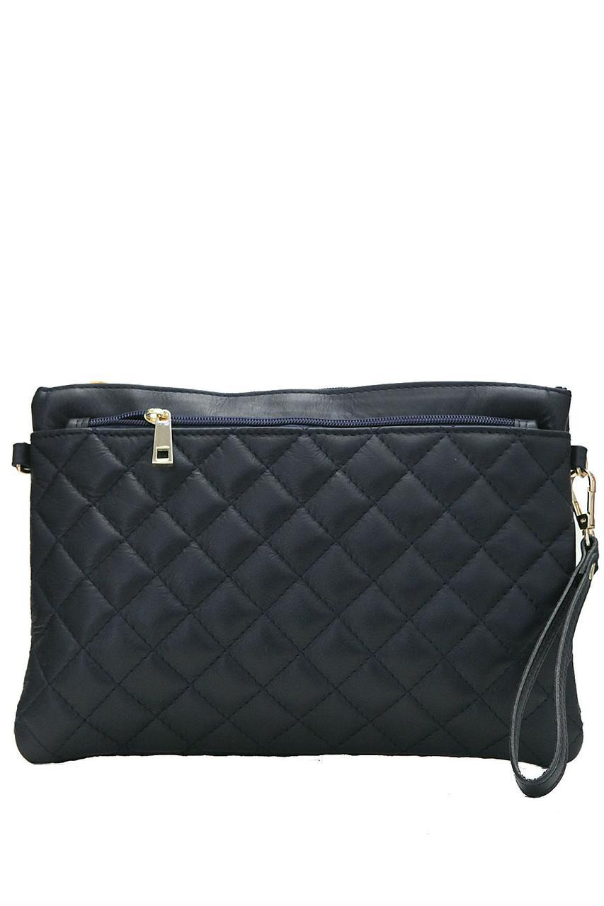 Женская кожаная сумка KIM Diva's Bag цвет темно-синий