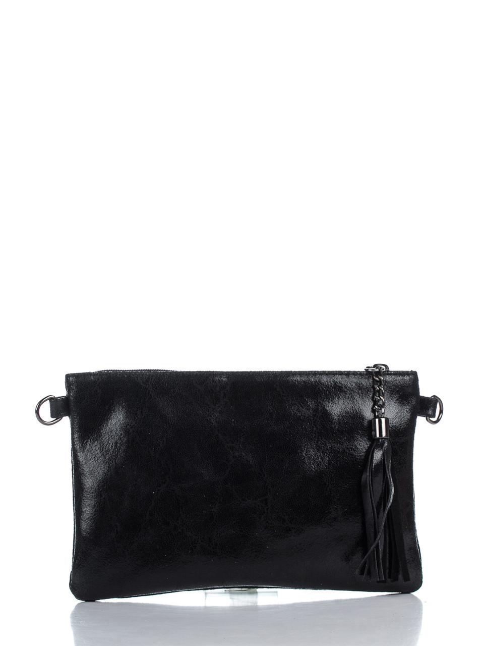 Женская кожаная сумка KATE Diva's Bag цвет черный
