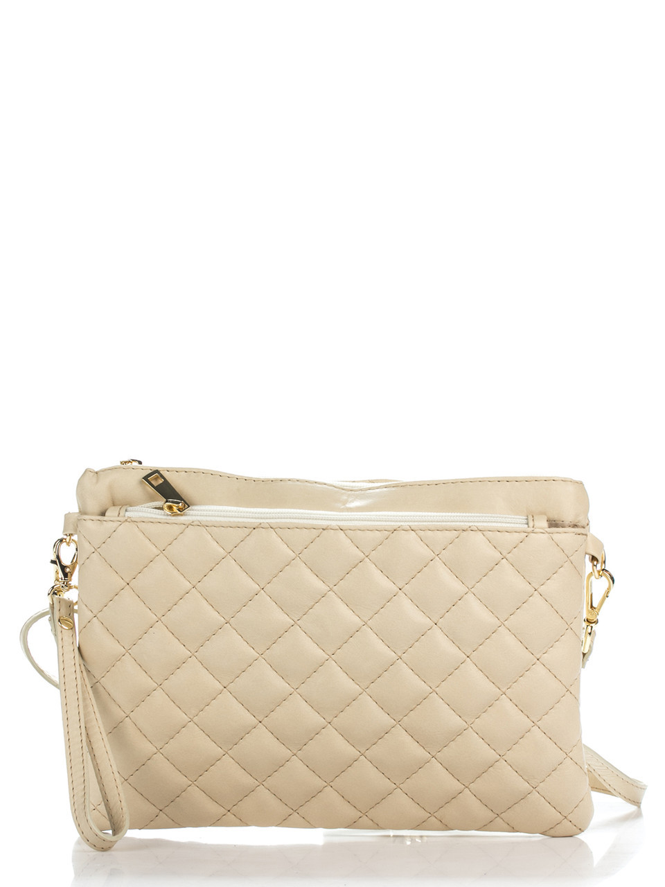 Женская кожаная сумка KIM Diva's Bag цвет бежевый