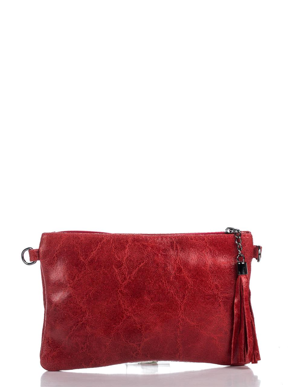 Женская кожаная сумка KATE Diva's Bag цвет красный