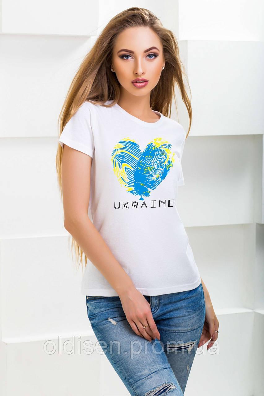 """Футболка """"UKRAINE"""" – Белый"""