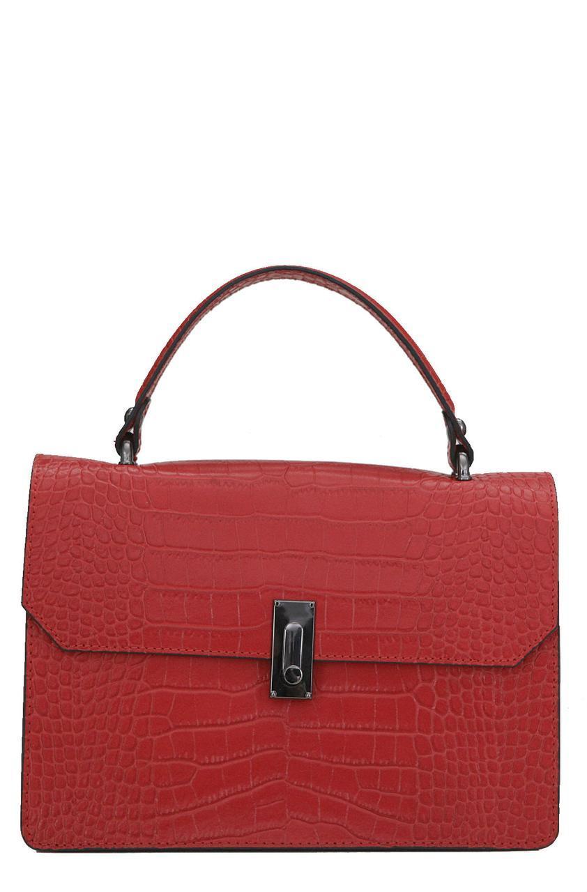 Женская кожаная сумка CAELLA Diva's Bag цвет красный