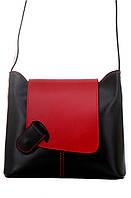 Женская кожаная сумка ISABELLA Diva's Bag цвет черный/красный