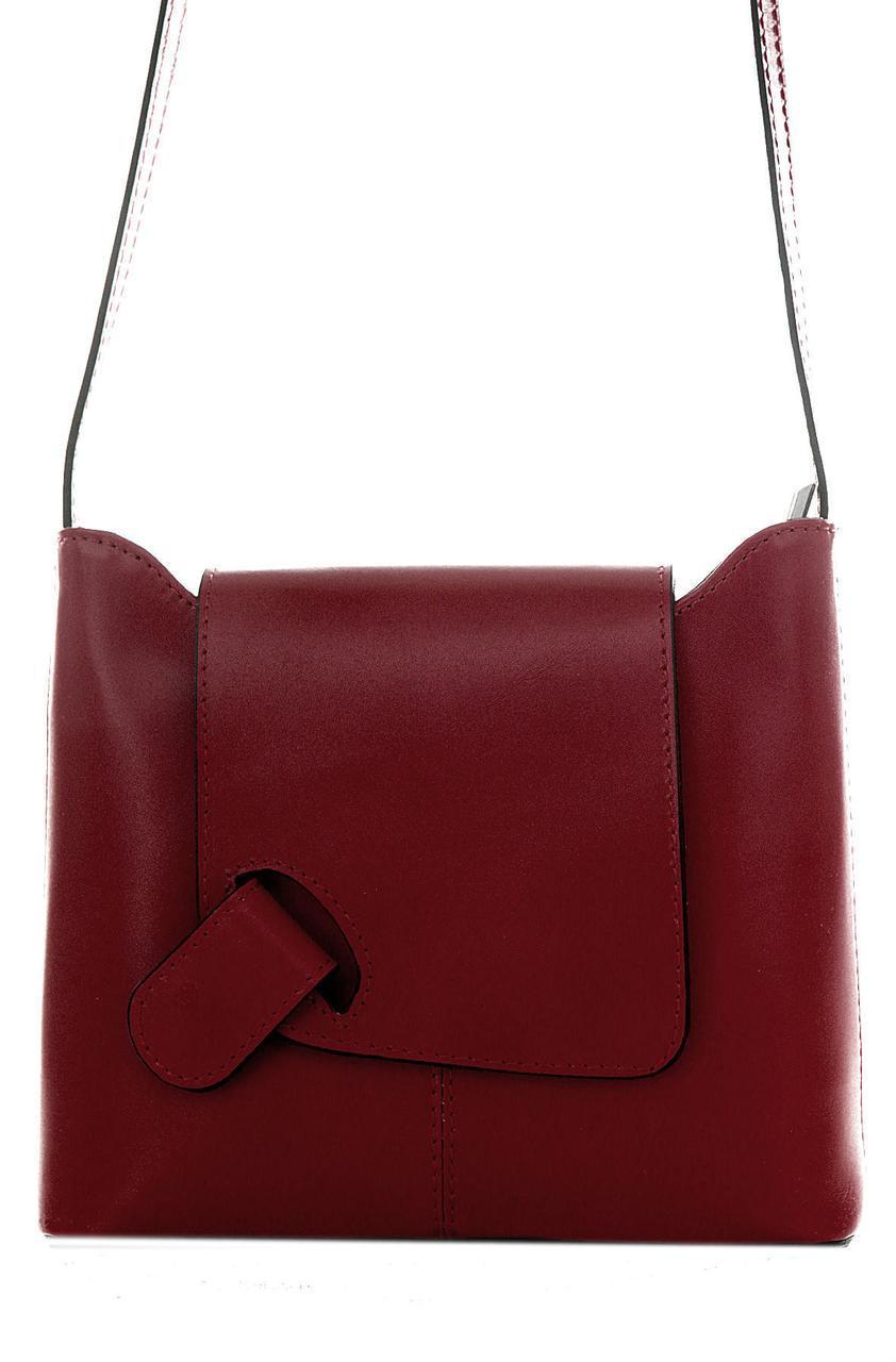 Женская кожаная сумка ISABELLA Diva's Bag цвет бордовый