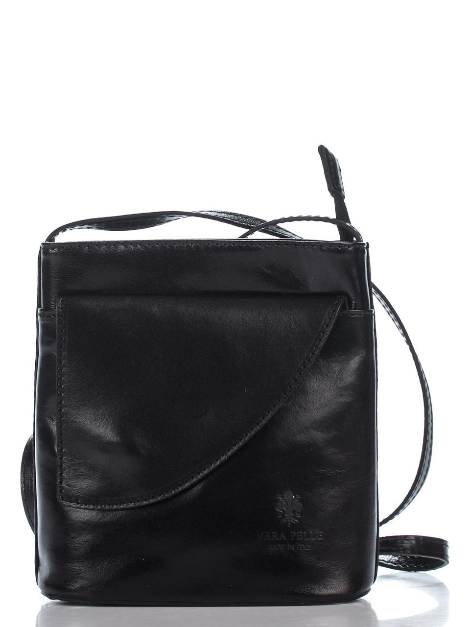 Женская кожаная сумка DOTTY Diva's Bag цвет черный
