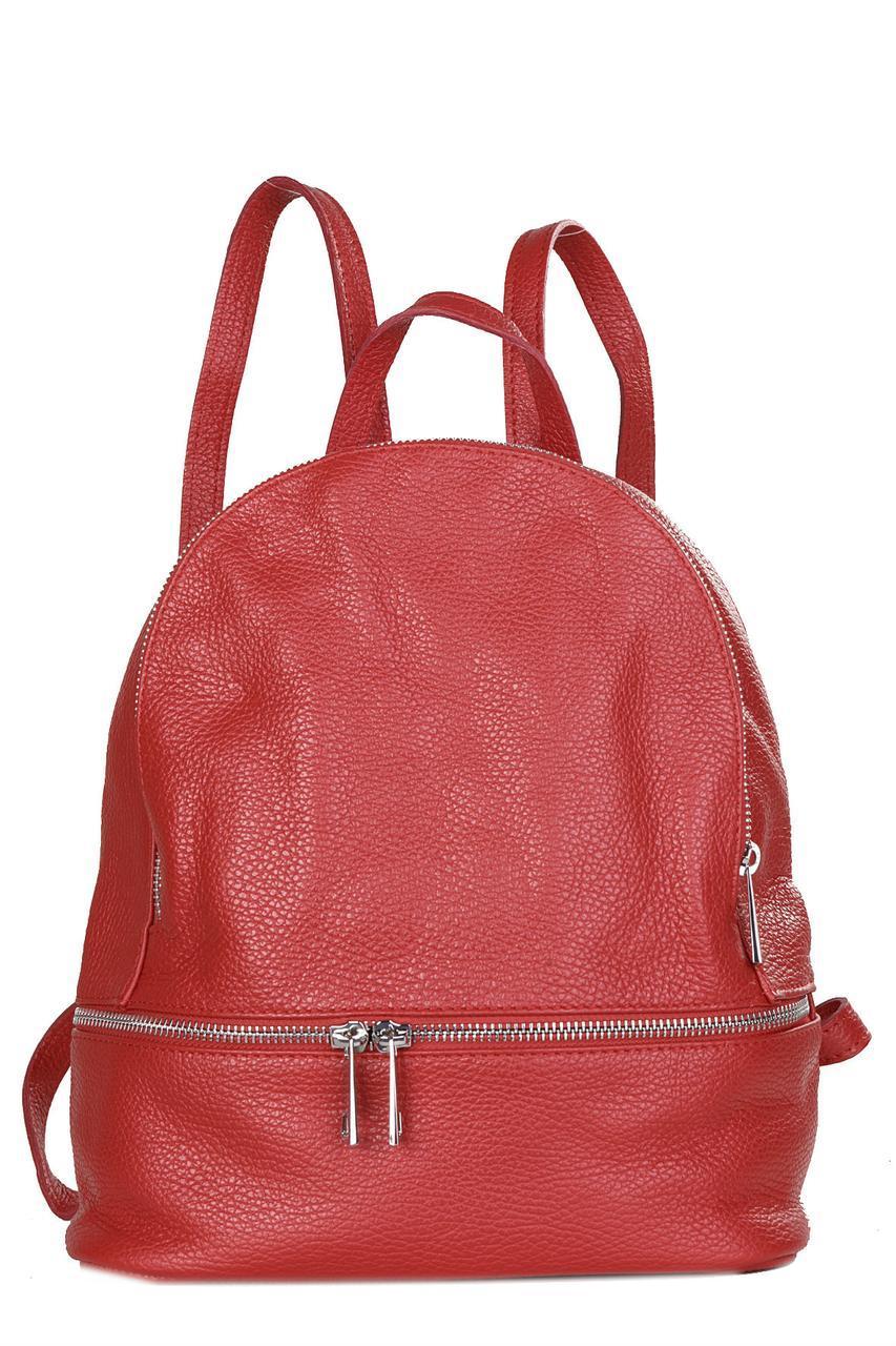 Женский кожаный рюкзак ZAIRA Diva's Bag цвет красный