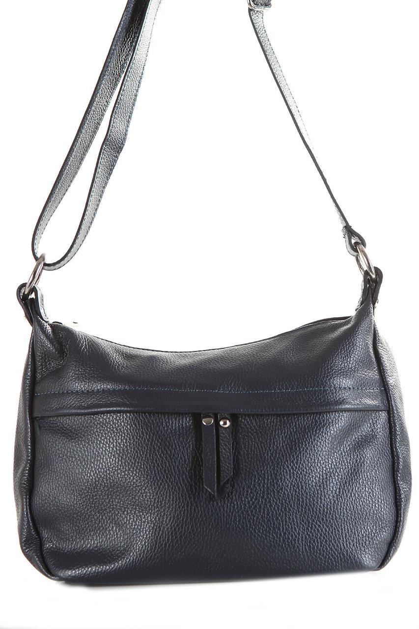 Женская кожаная сумка DONATA Diva's Bag цвет темно-синий