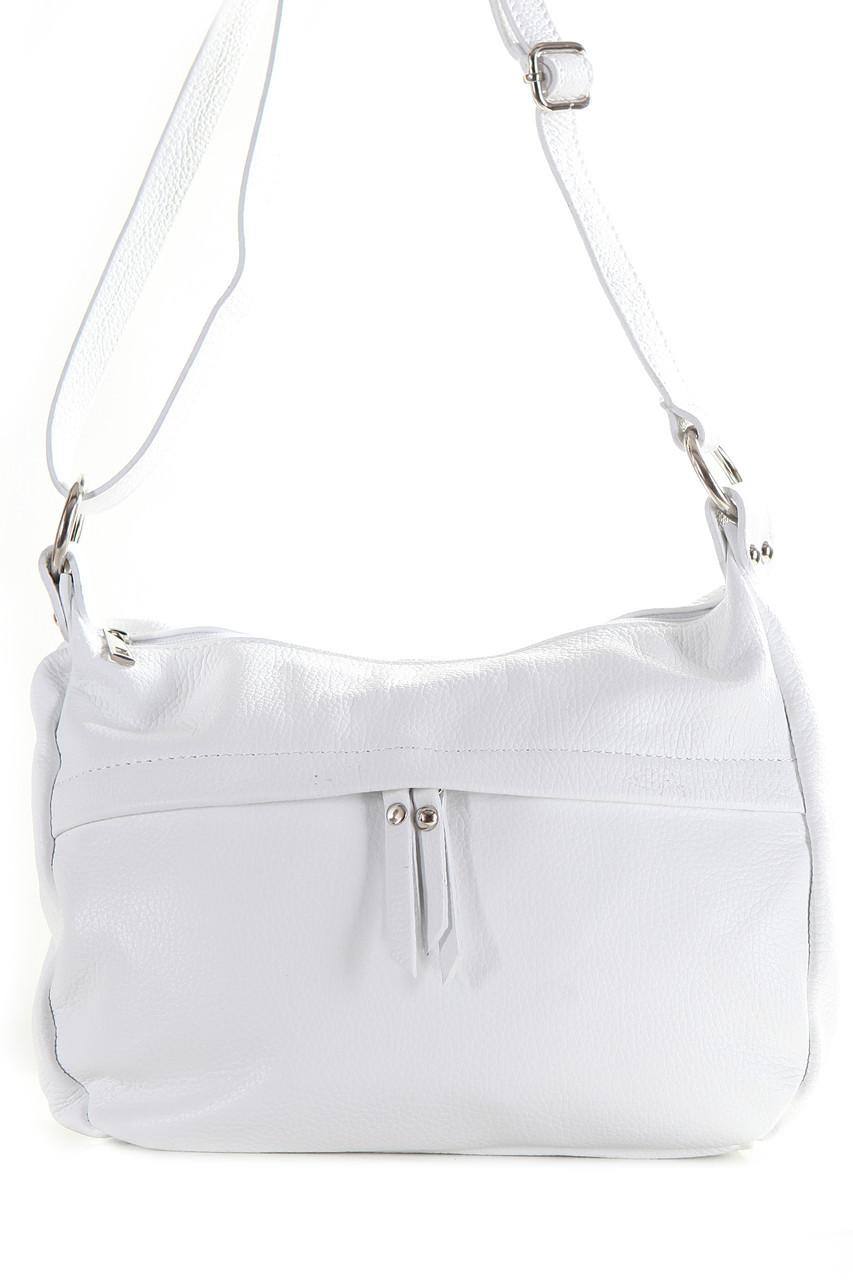 Женская кожаная сумка DONATA Diva's Bag цвет белый