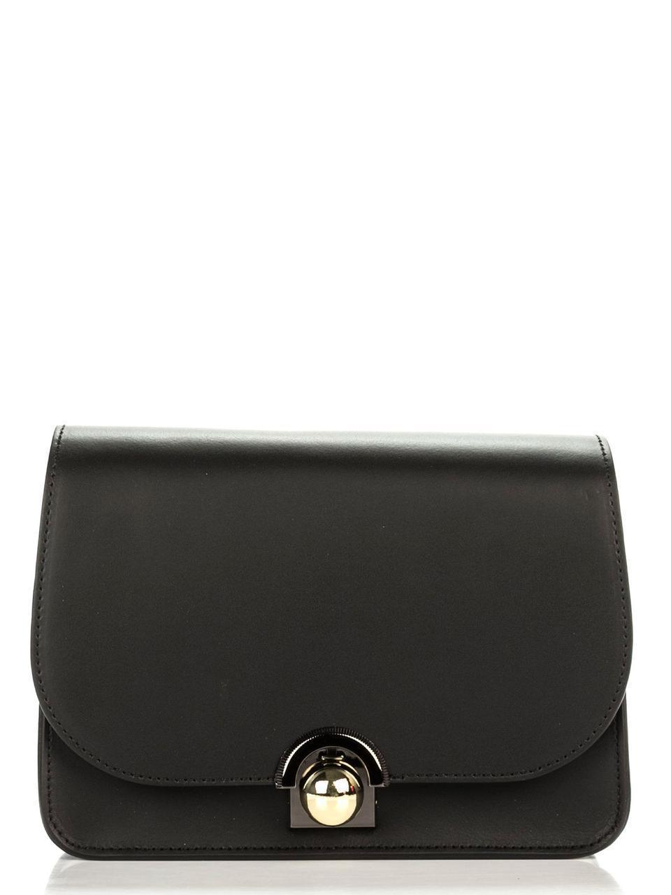 Женская кожаная сумка DINA Diva's Bag цвет черный