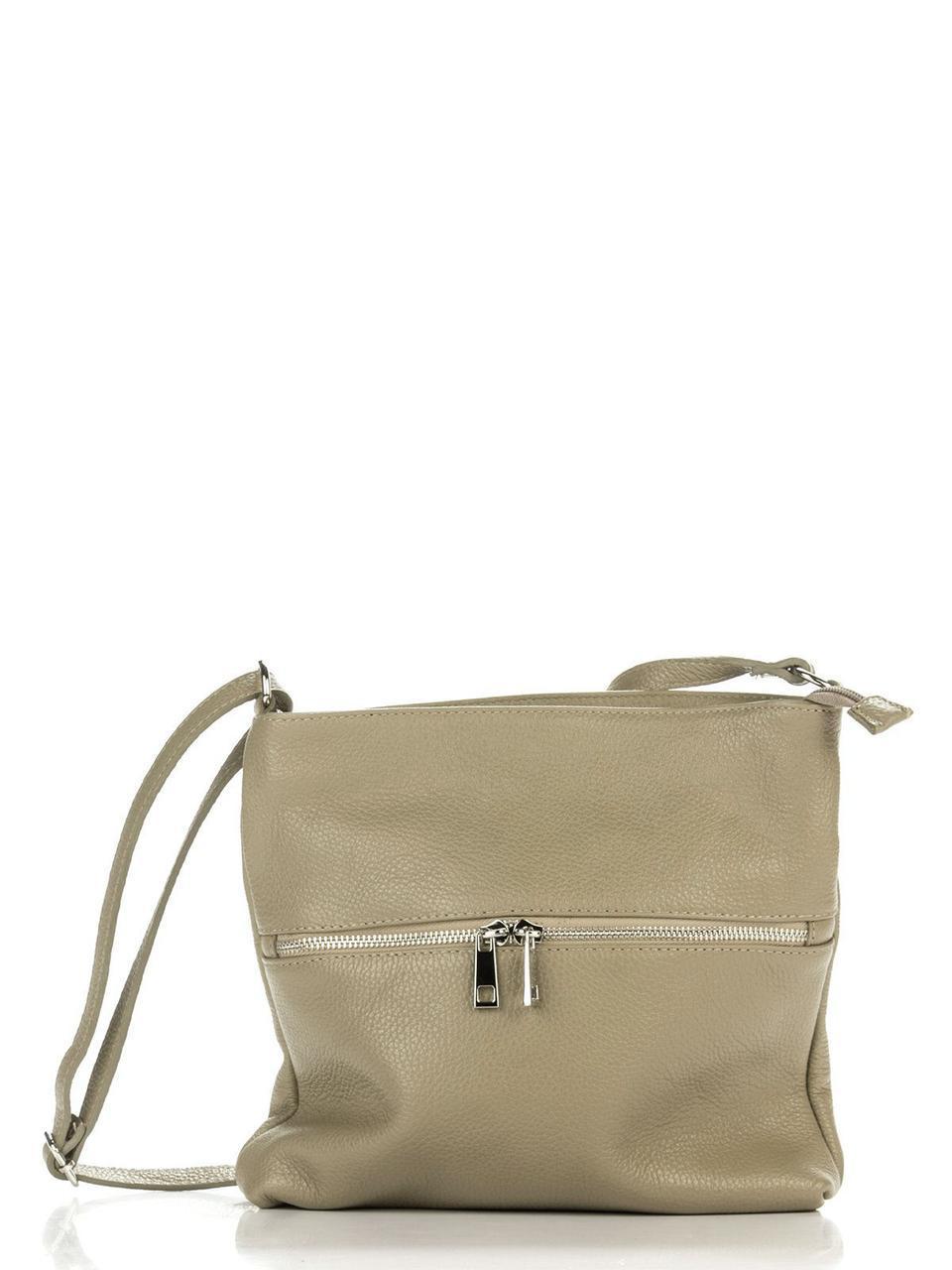 Женская кожаная сумка JOSSLYN Diva's Bag цвет серо-коричневый