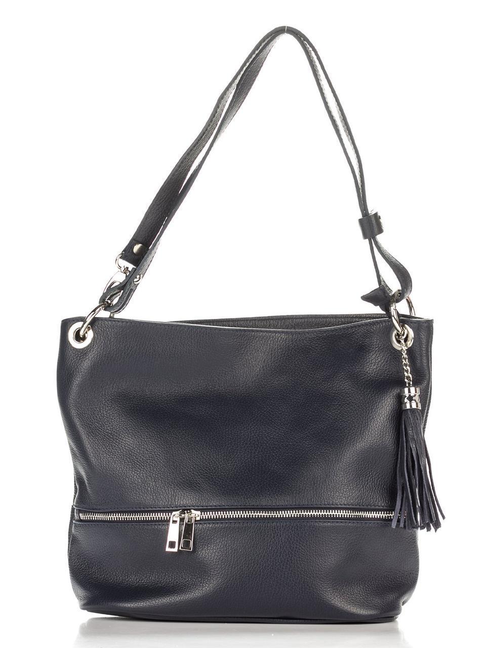 Женская кожаная сумка JOSS Diva's Bag цвет темно-синий