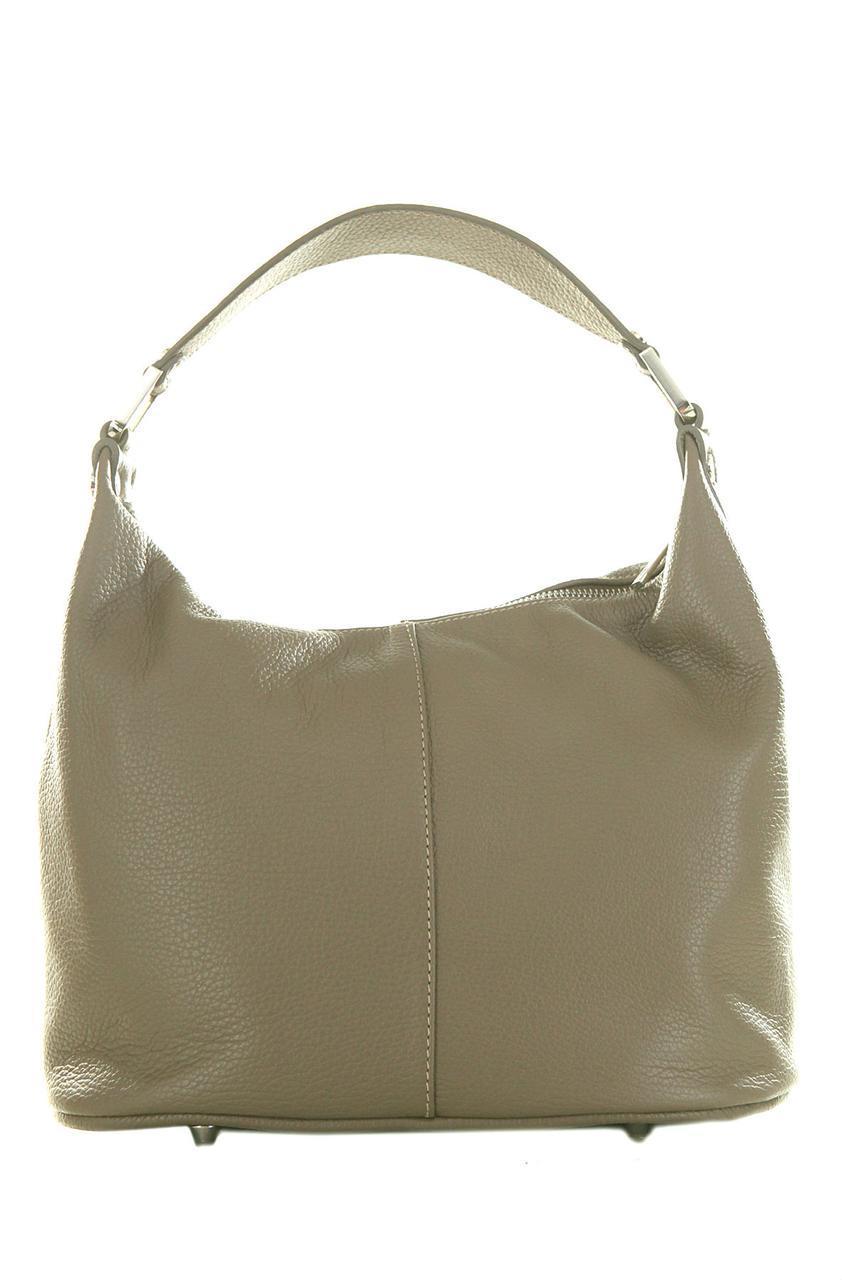 Женская сумка GINA кожаная хобо Diva's Bag светло-коричневая 31 см х 23 см х 16 см