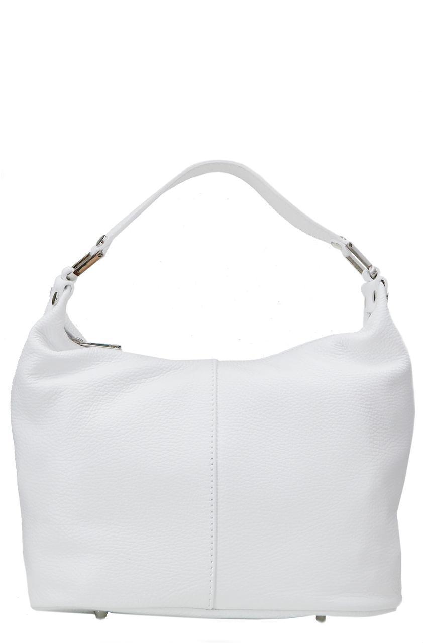 Женская кожаная сумка GINA Diva's Bag цвет белый