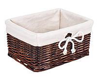 Ящик плетенный  из лозы коричневый 18Х24 см