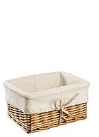 Ящик плетенный  из лозы медовый 18Х24 см