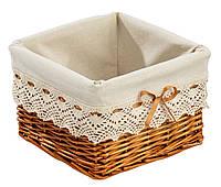Ящик плетенный из лозы  22Х22 см
