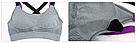 Спортивный топик топ лиф для фитнеса серый №47 (S,M) Спортивные топы топики, фото 7