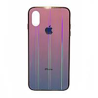 Чехол накладка xCase на iPhone XR Glass Shine Case Logo pink