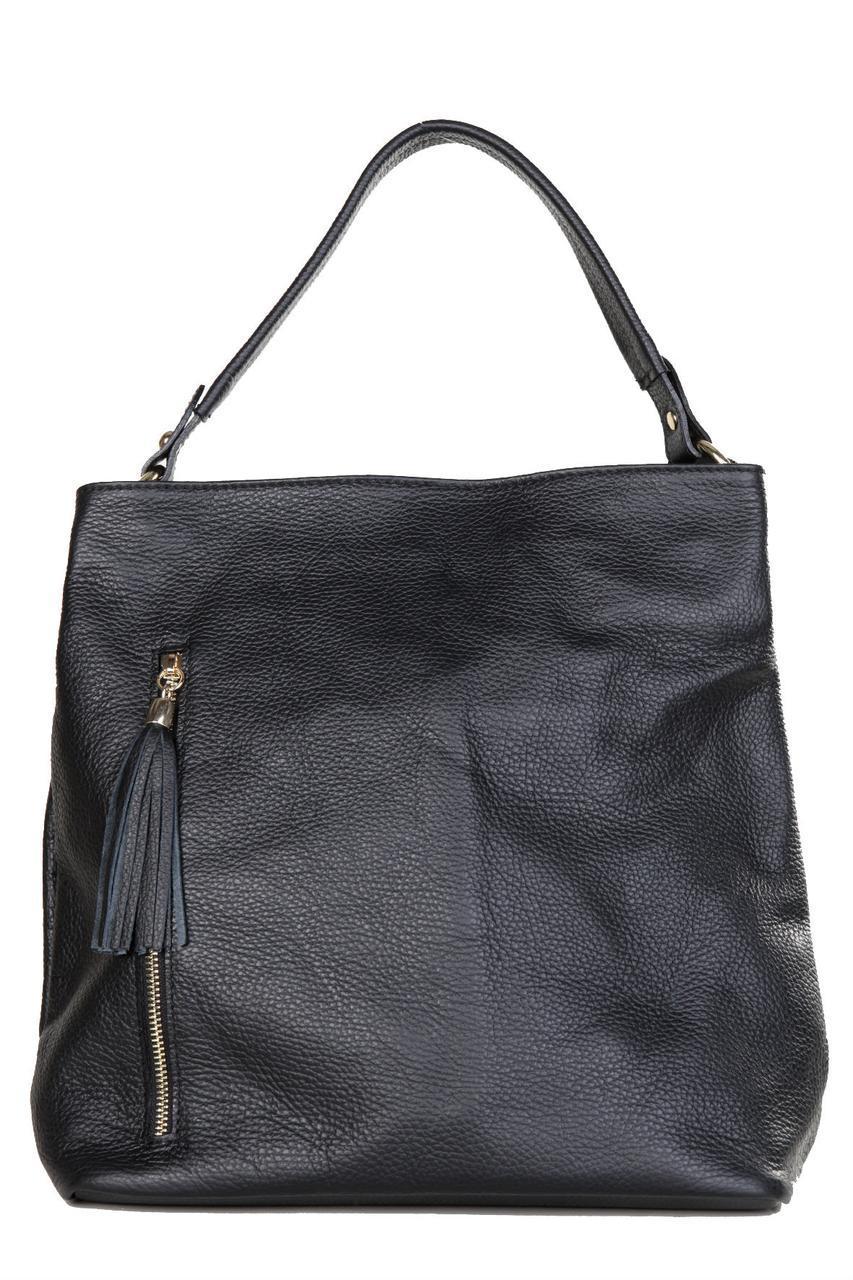 Женская кожаная сумка DANIA Diva's Bag цвет черный