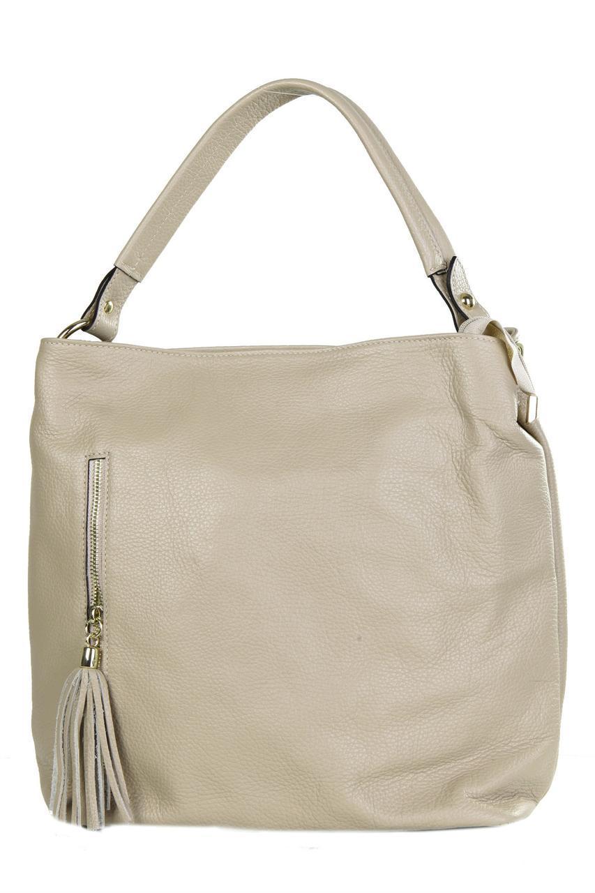 Женская кожаная сумка DANIA Diva's Bag цвет серо-коричневый