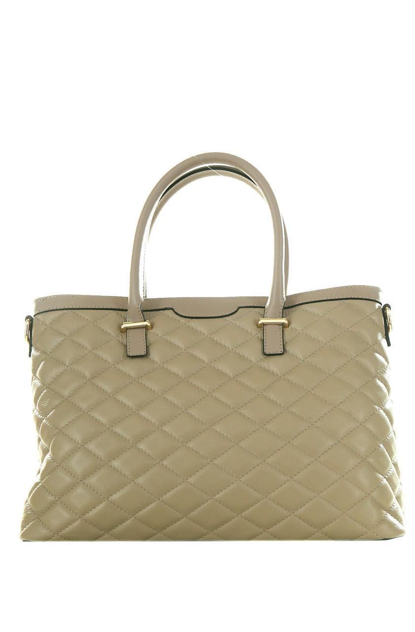 Женская кожаная сумка GRISELDA Diva's Bag цвет темно-бежевый