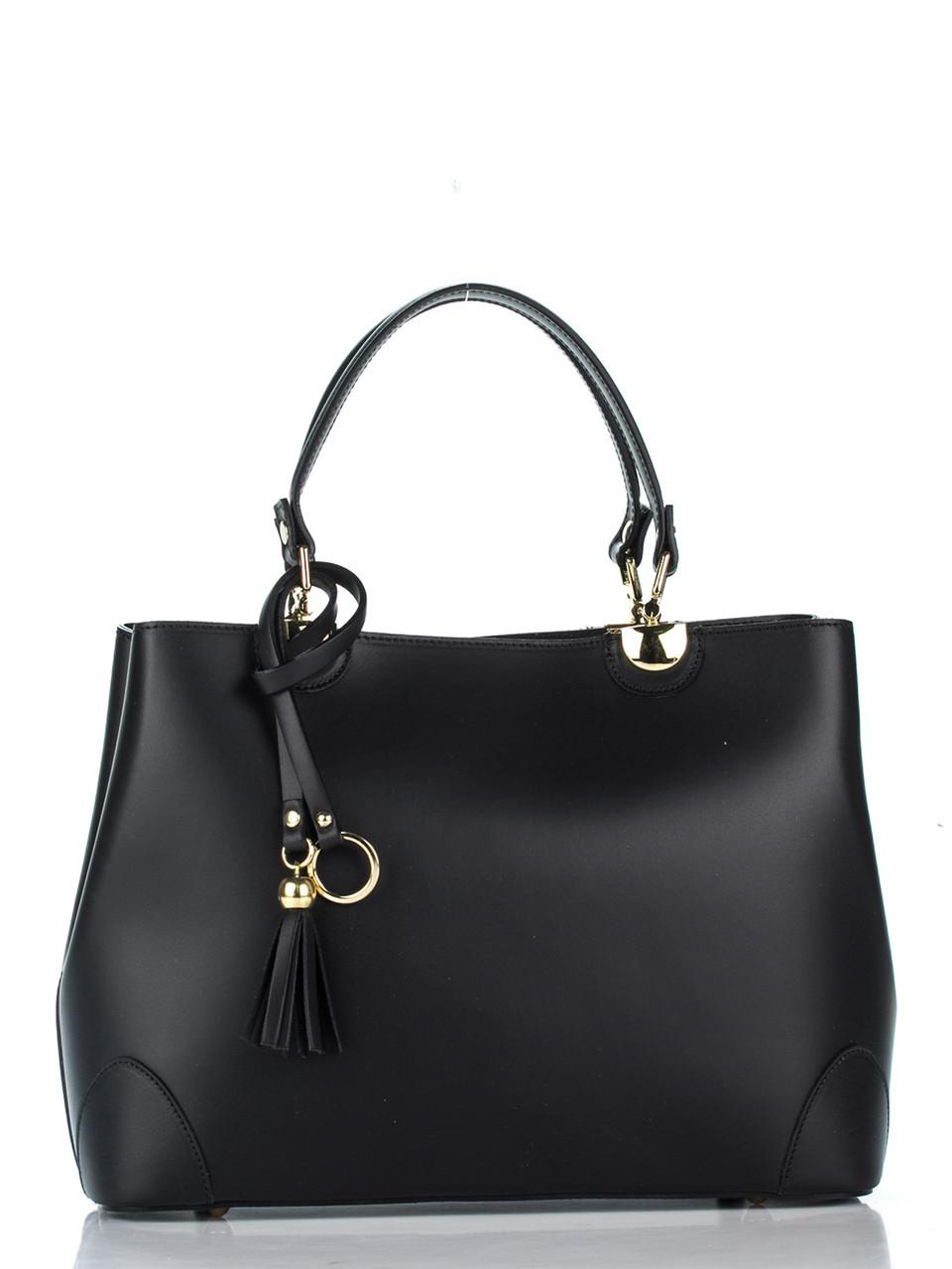 Женская кожаная сумка GRAZIA Diva's Bag цвет черный