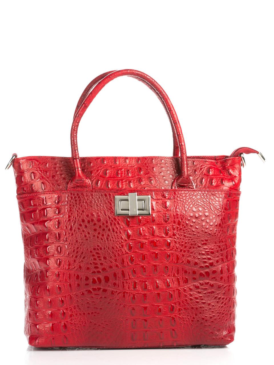 Женская кожаная сумка CAROLINA Diva's Bag цвет красный