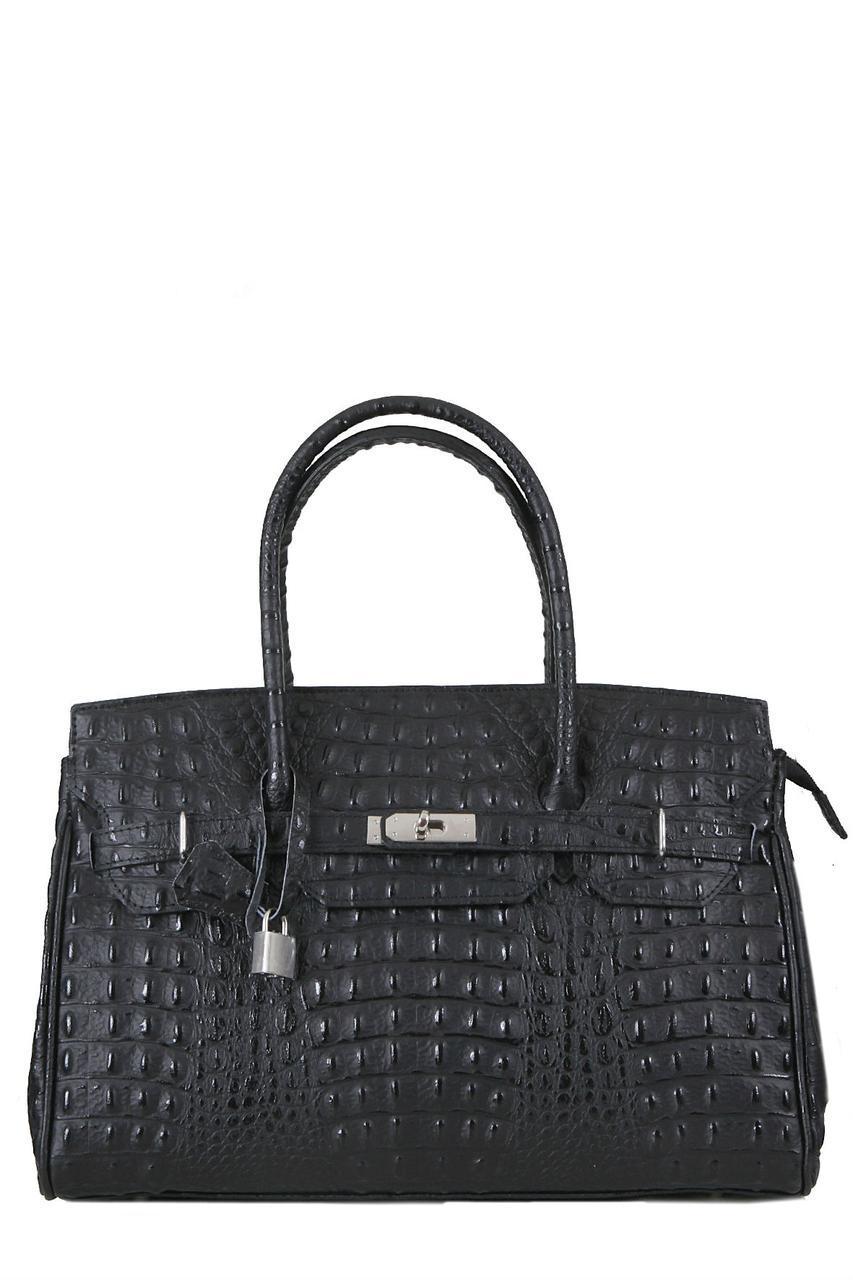 Женская кожаная сумка GLORIA Diva's Bag цвет черный